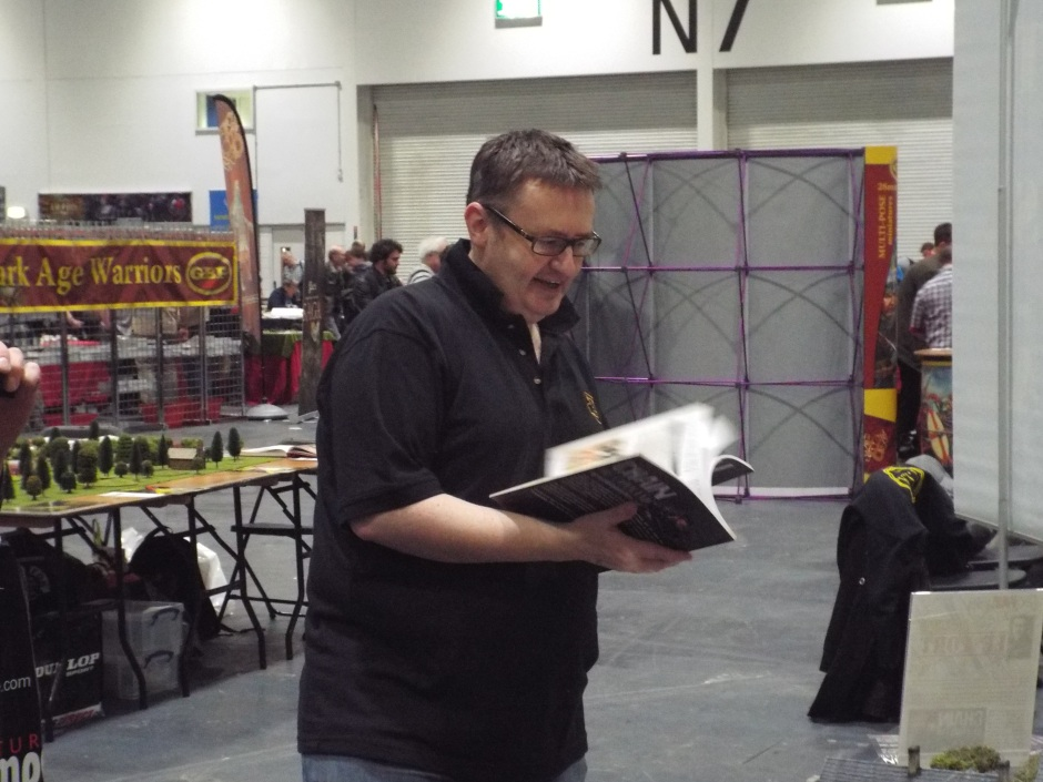 Nick frantically trying to learn the rules before the show opens!  :-)