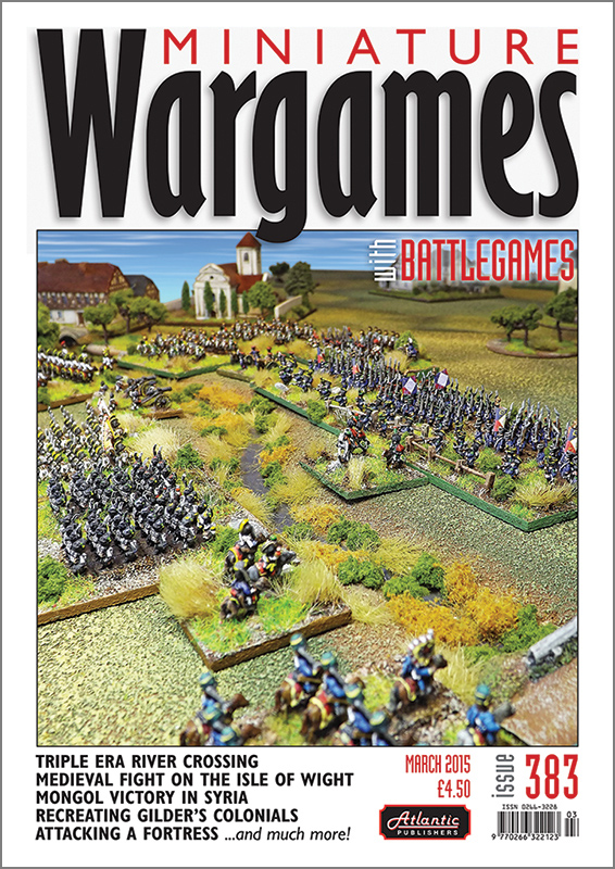 Miniature Wargames with Battlesgames 383 is out!