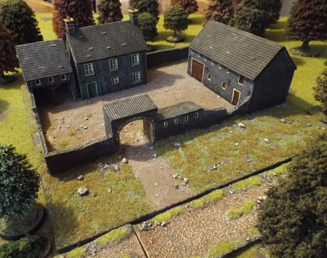 Najelwitz Normandy Farmstead on the gaming table