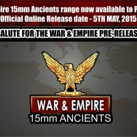 War & Empire range of 15mm Ancients ready to launch