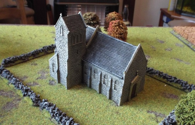 Repainting the Landmark church (15mm)