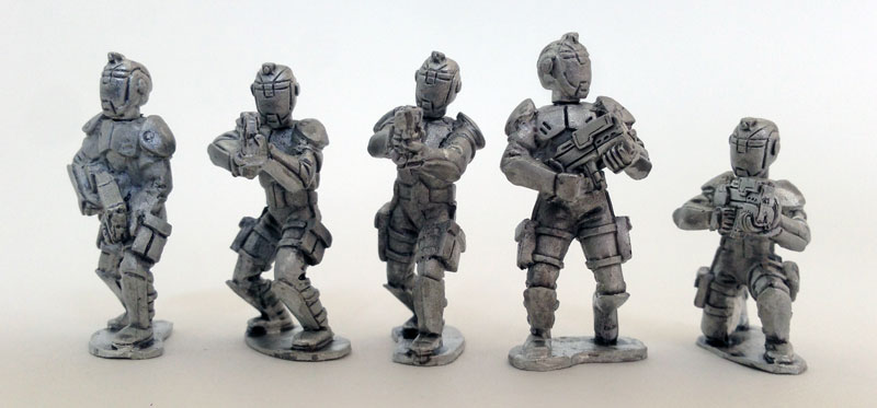 UFO Squad Troopers 1 - Male with Helmets