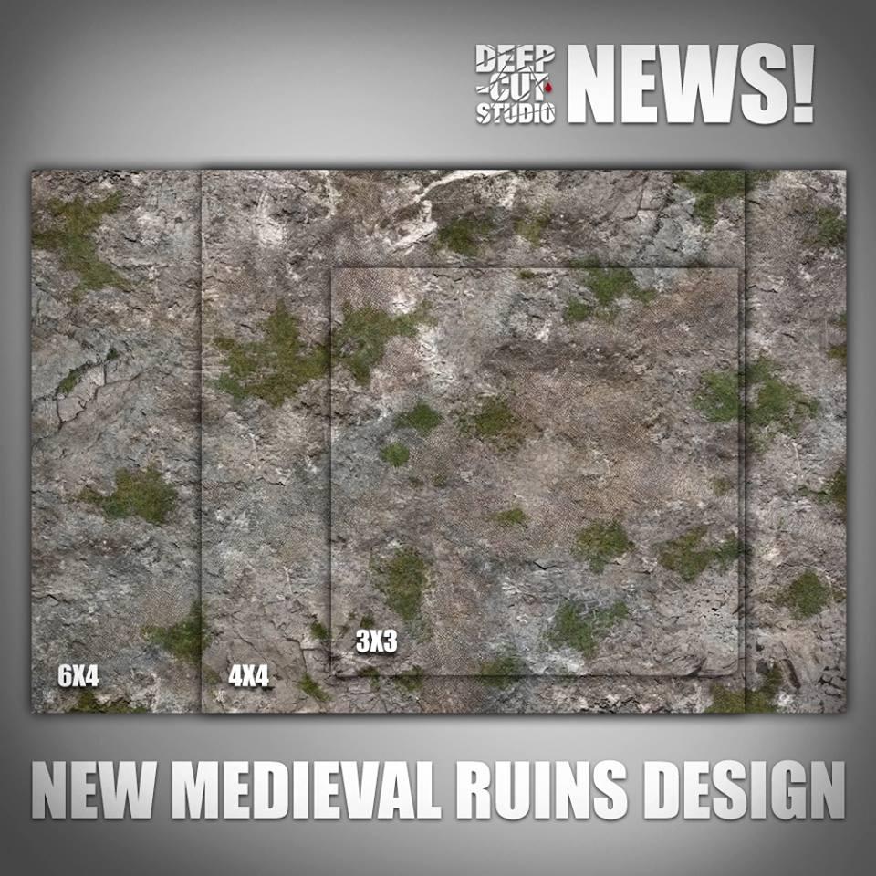 Deep Cut Studio Medieval Ruins Terrain Mat Tales Of Thebrummiedwarf