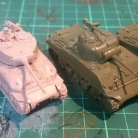 Size comparison - Battlefront vs Plastic Soldier Company 15mm Sherman Tanks
