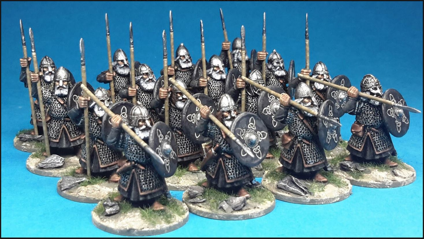 28mm dark age dwarves from conqueror models meeples miniatures