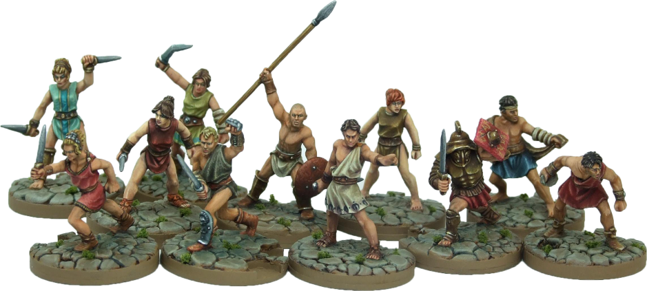 Gangs of Rome grouped-fighters-gladiator