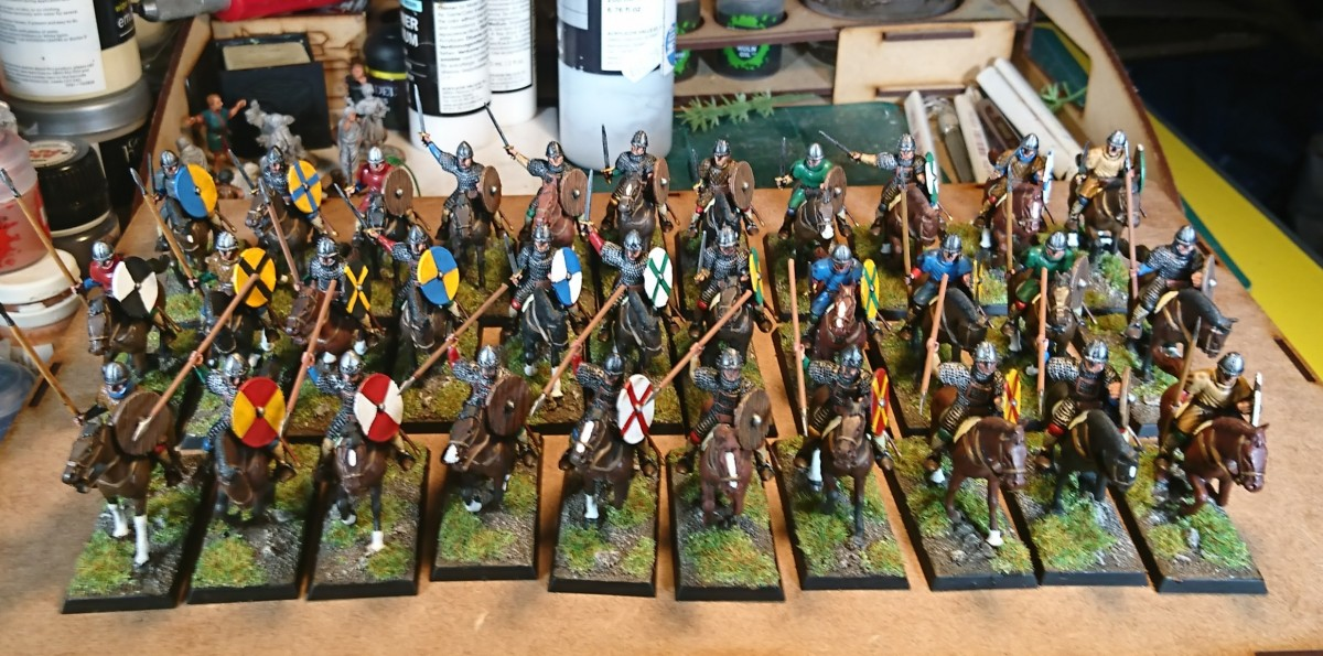 Norman Cavalry - finally painted!